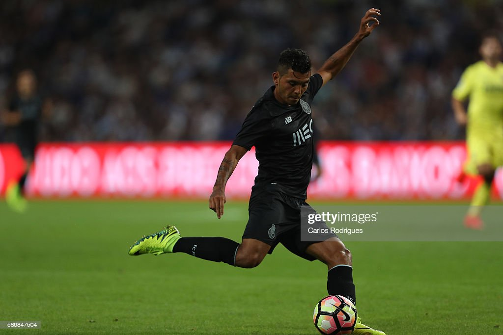 FC Porto's forward from Mexico Jesus Corona during the match between FC Porto v Villarreal CF friendly match at Estadio do Dragao on August 6, 2016 in Porto, Portugal.