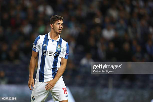 Porto's forward from Portugal Andre Silva during the UEFA Champions League match between FC Porto v FC Copenhagen at Estadio do Dragao on September...