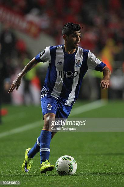 Porto's forward Jesus Corona during the match between SL Benfica and FC Porto for the portuguese Primeira Liga at Estadio da Luz on February 12 2016...