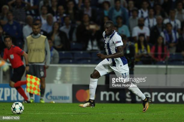 Porto's forward Moussa Marega from Mali during the match between FC Porto v Besiktas JK for the UEFA Champions League at Estadio do Dragao on...