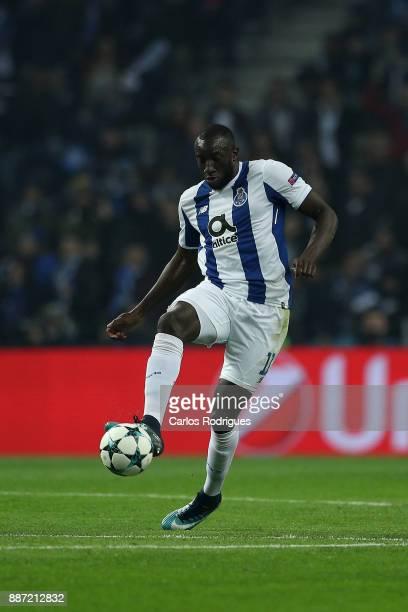 Porto's forward Moussa Marega from Mali during the match between FC Porto v AS Monaco or the UEFA Champions League match at Estadio do Dragao on...