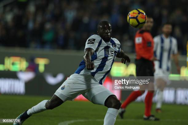 Porto's forward Moussa Marega from Mali during the match between GD Estoril Praia and FC Porto for Portuguese Primeira Liga at Estadio Antonio...
