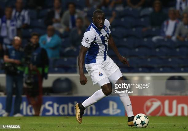 Porto's forward Moussa Marega from Mali in action during the UEFA Champions League match between FC Porto and Besiktas JK at Estadio do Dragao on...