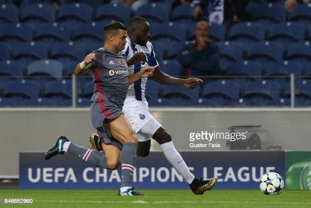 Porto's forward Moussa Marega from Mali with Besiktas defender Pepe from Portugal in action during the UEFA Champions League match between FC Porto...