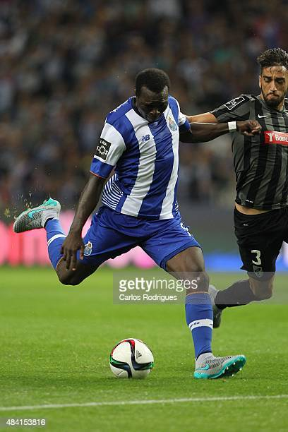 Porto's forward Vincent Aboubakar during the match between FC Porto and Vitoria Guimaraes for the Portuguese Primeira Liga at Estadio do Dragao on...