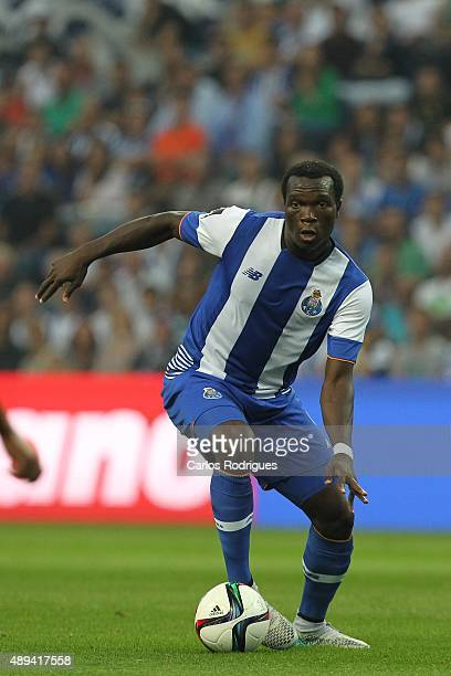 Porto's forward Vincent Aboubakar during the match between FC Porto and SL Benfica for the Portuguese Primeira Liga at Estadio do Dragao on September...