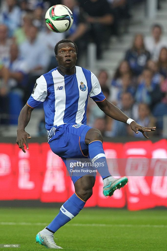 Porto's forward Vincent Aboubakar during the match between FC Porto and SL Benfica for the Portuguese Primeira Liga at Estadio do Dragao on September 20, 2015 in Porto, Portugal.