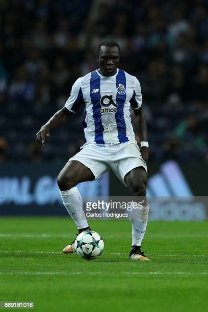 PortoÕs forward Vincent Aboubakar from Camaroes during the match between FC Porto v RB Leipzig or the UEFA Champions League match at Estadio do...