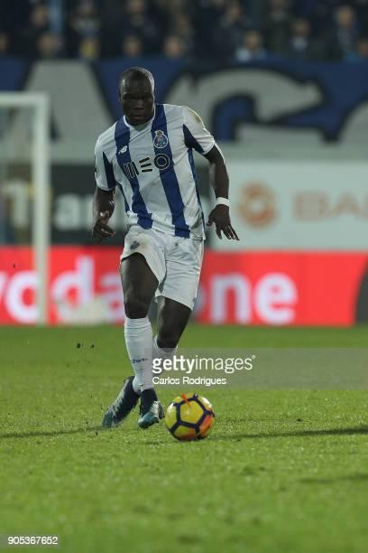 Porto's forward Vincent Aboubakar from Camaroes during the match between GD Estoril Praia and FC Porto for Portuguese Primeira Liga at Estadio...