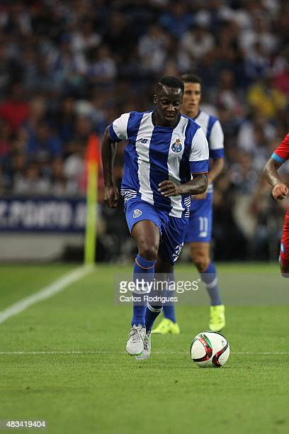 Porto's French defender Aly Cissokho during the pre-season friendly between FC Porto and Napoli at Estadio do Dragao on August 8, 2015 in Porto,...