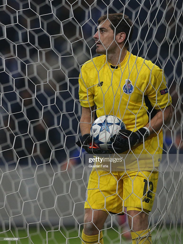 FC PortoÕs goalkeeper Iker Casillas after FC Dynamo Kyiv second goal during the UEFA Champions League match between FC Porto and FC Dynamo Kyiv at Estadio do Dragao on November 24, 2015 in Porto, Portugal.