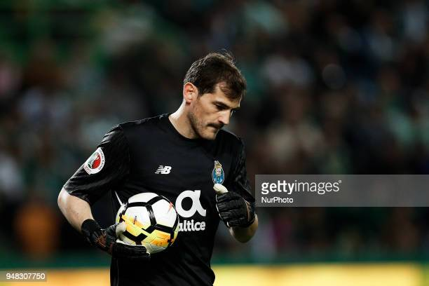 Porto's goalkeeper Iker Casillas during Portuguese Cup 2017/18 match between Sporting CP vs FC Porto in Lisbon on April 18 2018