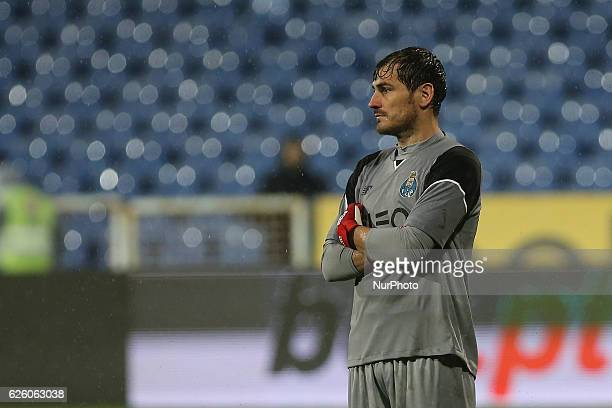 FC Portos goalkeeper Iker Casillas from Spain during Premier League 2016/17 match between Os Belenenses and FC Porto Estadio do Restelo in Lisbon on...