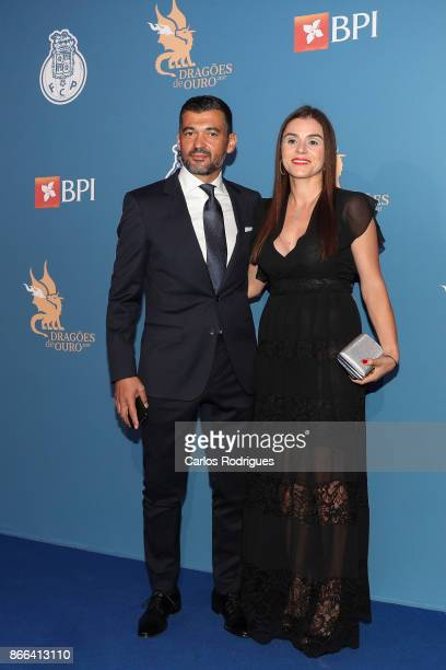 Porto's head coach Sergio Conceicao from Portugal and Wife Liliana Conceicao attends FC Porto Gala Dragoes de Ouro 2016 2017 at Dragao Caixa on...