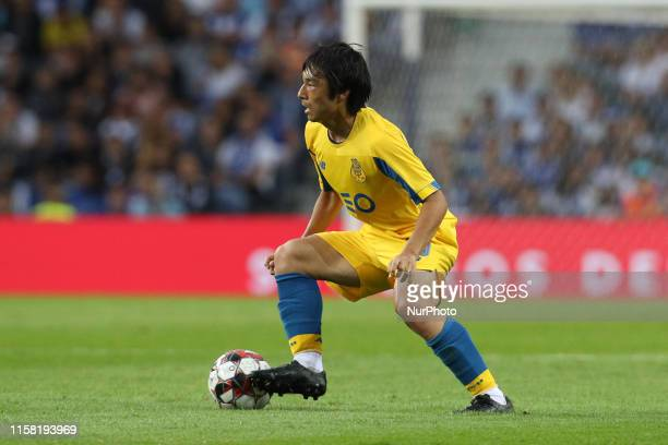 Portos Japanese forward Shoya Nakajima in action during the presentation of the Porto FC players before the Pre-season friendly match between FC...