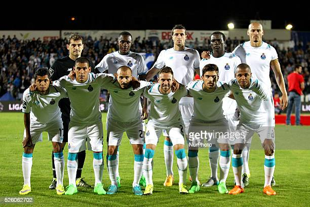 Porto's line up during the Premier League 2015/16 match between FC Arouca and FC Porto at Municipal de Arouca Stadium in Arouca on September 12