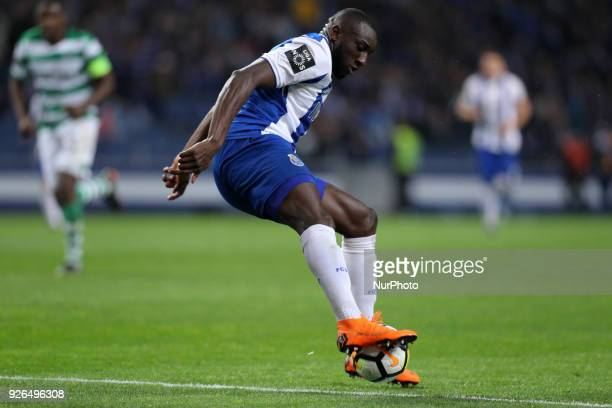 Porto's Malian forward Moussa Marega in action during the Premier League 2017/18 match between FC Porto and Sporting CP at Dragao Stadium in Porto on...