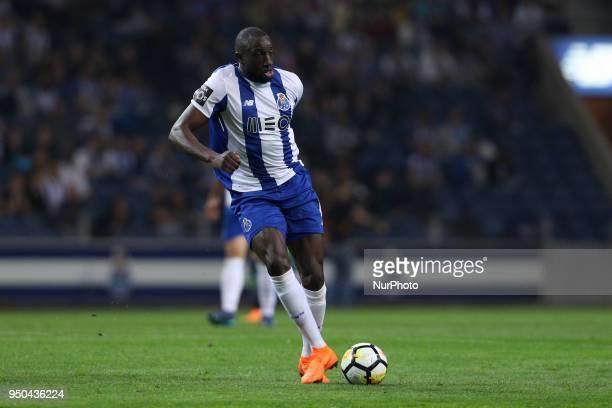 Porto's Malian forward Moussa Marega in action during the Premier League 2016/17 match between FC Porto and Vitoria FC at Dragao Stadium in Porto on...