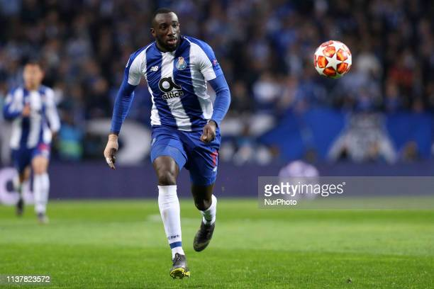Portos Malian forward Moussa Marega in action during the UEFA Champions League match between FC Porto and Liverpool at Dragao Stadium in Porto on...