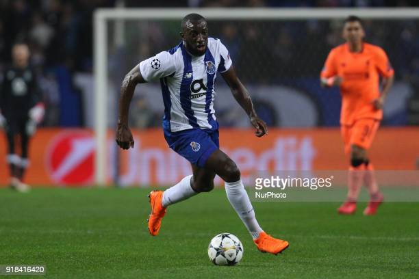 Porto's Malian forward Moussa Marega in action during the UEFA Champions League match between FC Porto and Liverpool at Dragao Stadium in Porto on...