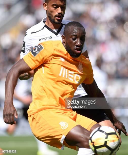Porto's Malian forward Moussa Marega vies with Vitoria Guimaraes' Brazilian defender Jubal during the Portuguese league football match between...