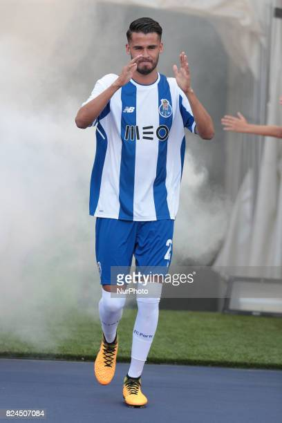 Porto's Mexican defender Diego Reyes during the preseason friendly between FC Porto and Deportivo da Corunha at Dragao Stadium on July 30 2017 in...