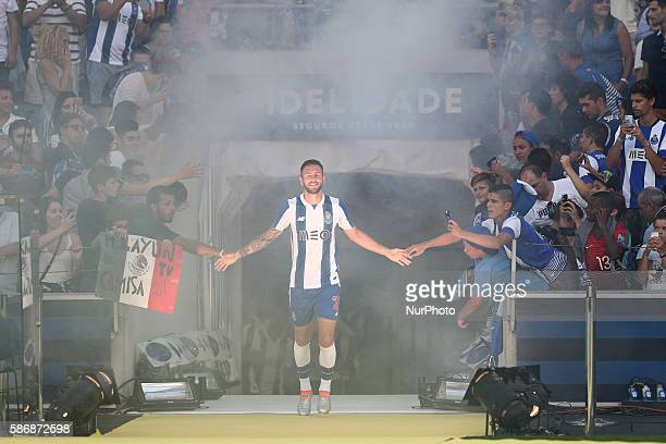 Porto's Mexican defender Miguel Layun during the Official Presentation of the FC Porto Team 2016/17 match between FC Porto and Villarreal at Dragao...