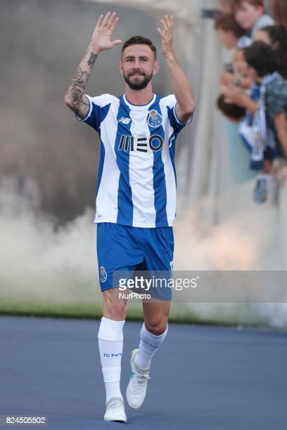 Porto's Mexican defender Miguel Layun during the preseason friendly between FC Porto and Deportivo da Corunha at Dragao Stadium on July 30 2017 in...