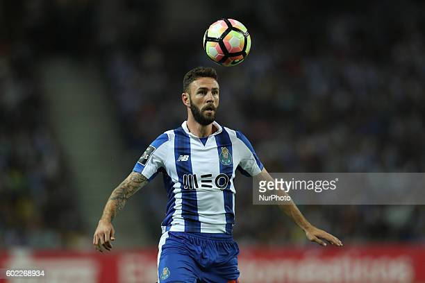 Porto's Mexican defender Miguel Layun in action during the Premier League 2016/17 match between FC Porto and Vitoria SC at Dragao Stadium in Porto on...