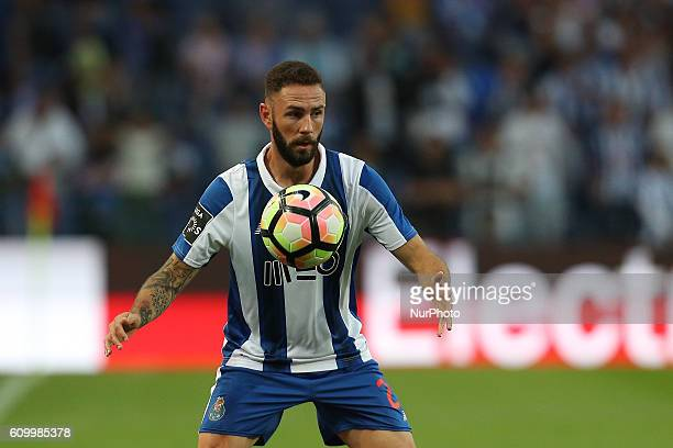 Porto's Mexican defender Miguel Layun in action during the Premier League 2016/17 match between FC Porto and Boavista FC at Dragao Stadium in Porto...