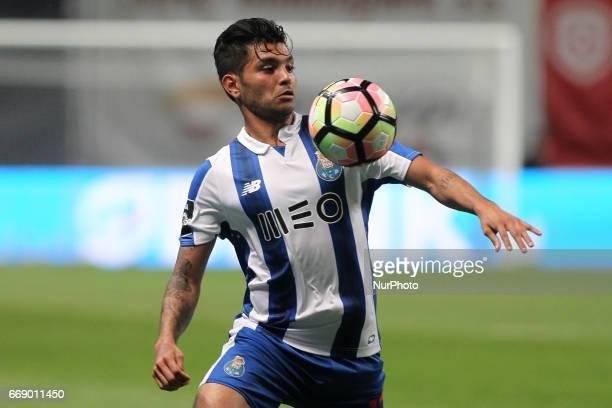 Porto's Mexican forward Jesus Corona during the Premier League 2016/17 match between SC Braga and FC Porto at Municipal de Braga Stadium in Braga on...