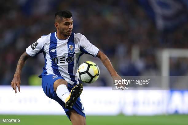 Porto's Mexican forward Jesus Corona during the Premier League 2016/17 match between FC Porto and Portimonense SC at Dragao Stadium in Porto on...