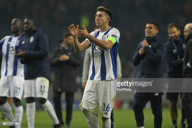 Porto's Mexican midfielder Hector Herrera during the UEFA Champions League Group G match between FC Porto and AS Monaco FC at Dragao Stadium on...