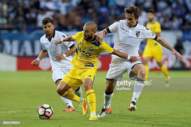 FC Portos midfielder Andre Andre Guimaraes's midfielder Rafael Miranda during the match between Vitoria Guimaraes v Porto match for the Guimaraes...