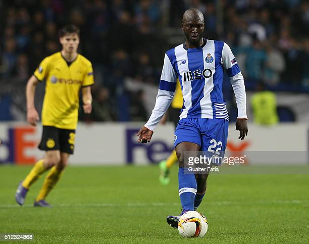 Porto's midfielder Danilo Pereira in action during the UEFA Europa League Round of 32 Second Leg match between FC Porto and Borussia Dortmund at...