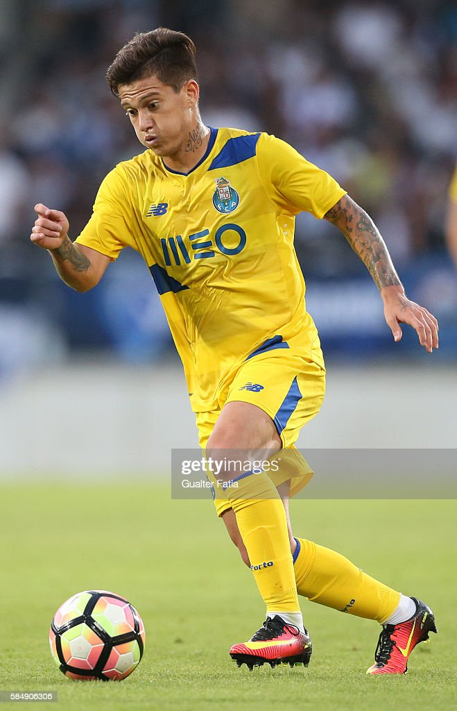 FC PortoÕs midfielder from Brazil Otavio in action during the Guimaraes City Trophy match between Vitoria de Guimaraes and FC Porto at Estadio D. Afonso Henriques on July 31, 2016 in Guimaraes, Portugal.