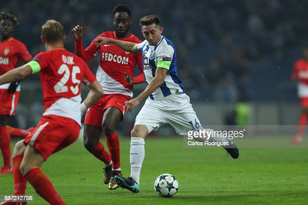 Porto's midfielder Hector Herrera from Mexico during the match between FC Porto v AS Monaco or the UEFA Champions League match at Estadio do Dragao...