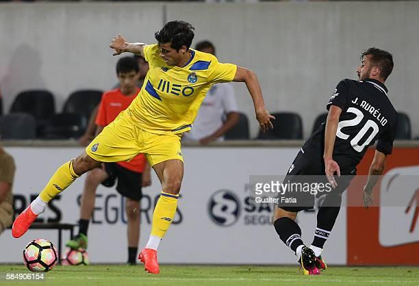 PortoÕs midfielder Joao Carlos Teixeira in action during the Guimaraes City Trophy match between Vitoria de Guimaraes and FC Porto at Estadio D...