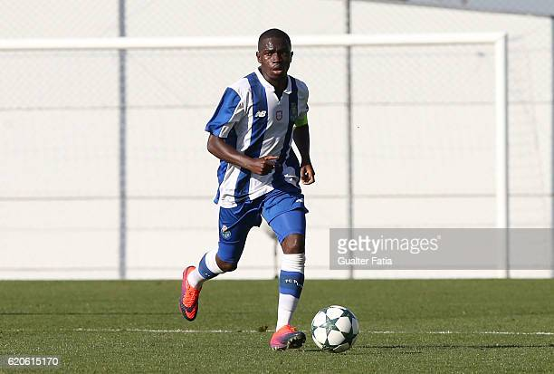 Porto's midfielder Moreto Cassama in action during the UEFA Youth Champions League match between FC Porto and Club Brugge KV at Centro de Estagios do...