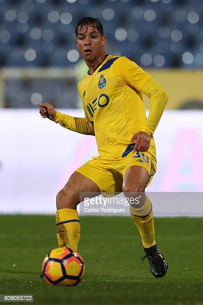 Porto's midfielder Oliver Torres from Spain during the Portuguese Primeira Liga match between CF Os Belenenses and FC Porto at Estadio do Restelo on...
