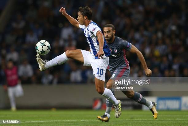 Porto's midfielder Oliver Torres in action during the UEFA Champions League match between FC Porto and Besiktas JK at Estadio do Dragao on September...