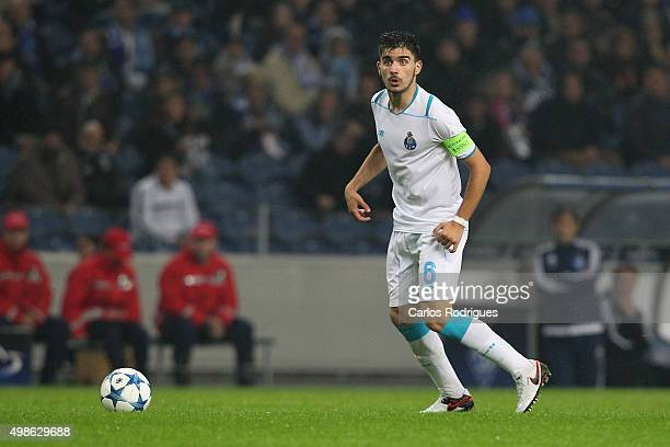 Porto's midfielder Ruben Neves during the Champions League match between FC Porto and FC Dynamo Kyiv at Estadio do Dragao on November 24 2015 in...