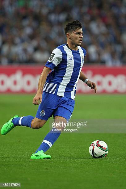 Porto's midfielder Ruben Neves during the match between FC Porto and SL Benfica for the Portuguese Primeira Liga at Estadio do Dragao on September 20...