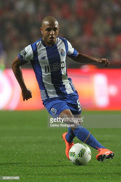 Porto's midfielder Yacine Brahimi during the match between SL Benfica and FC Porto for the portuguese Primeira Liga at Estadio da Luz on February 12...