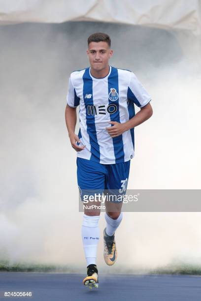 Porto's Portuguese defender Diogo Dalot during the preseason friendly between FC Porto and Deportivo da Corunha at Dragao Stadium on July 30 2017 in...