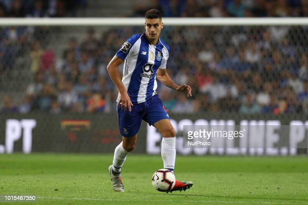 Porto's Portuguese defender Diogo Leite in action during the Premier League 2018/19 match between FC Porto and GD Chaves at Dragao Stadium in Porto...