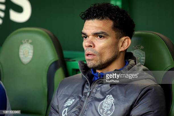 Porto's Portuguese defender Pepe during the Portuguese League football match Sporting CP vs FC Porto at Alvadade stadium in Lisbon on January 12 2019