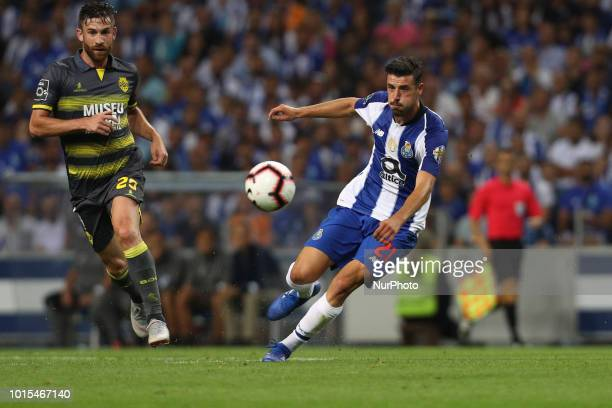 Porto's Portuguese forward Andre Pereira in action during the Premier League 2018/19 match between FC Porto and GD Chaves at Dragao Stadium in Porto...