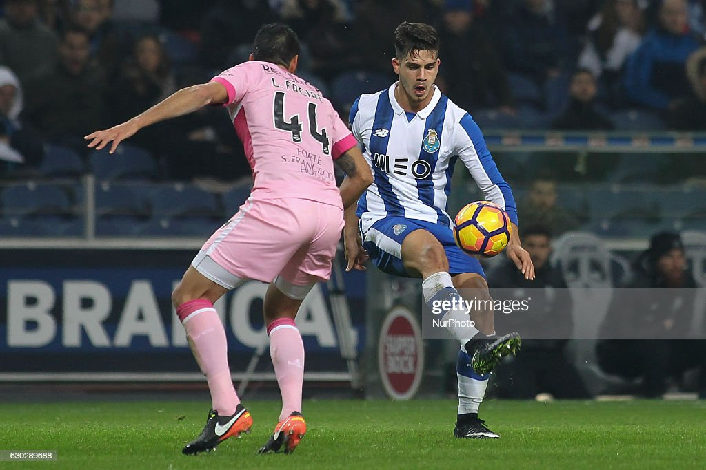 Porto's Portuguese forward Andre Silva during the Premier League 2016/17 match between FC Porto and GD Chaves, at Dragao Stadium in Porto on December 19, 2016.