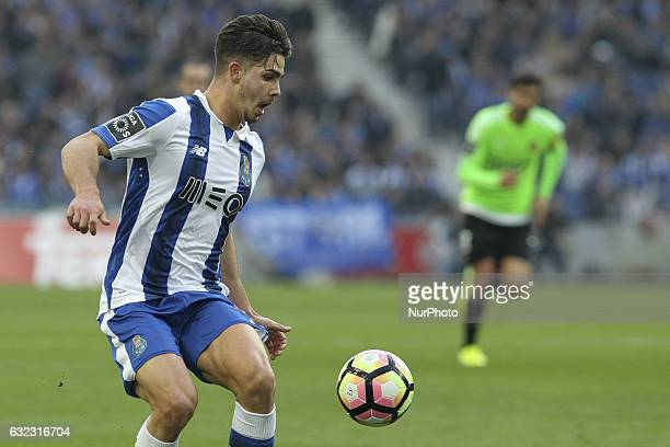 Porto's Portuguese forward Andre Silva during the Premier League 2016/17 match between FC Porto and Rio Ave at Dragao Stadium in Porto on January 21...